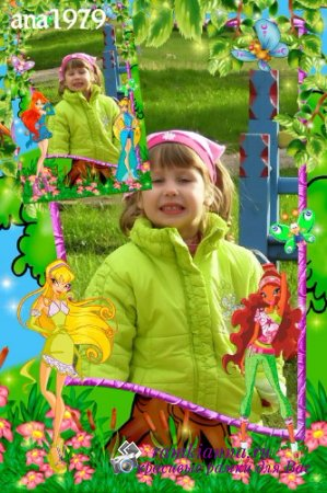 Фоторамка с героинями мультсериала Winx Club/Photo frame with the heroines of the animated series Wi